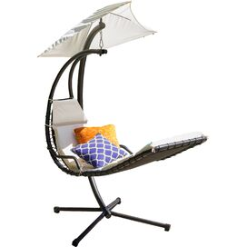 Harper Hanging Patio Chaise in White