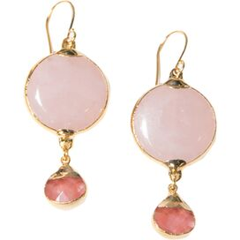 Rose Quartz Earrings by Janna Conner Designs