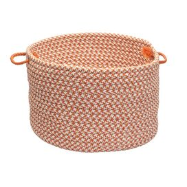Heather Indoor/Outdoor Basket in Orange