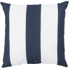 Ronnie Indoor/Outdoor Pillow in Navy & Ivory