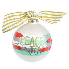 Peace, Love, & Joy Ornament