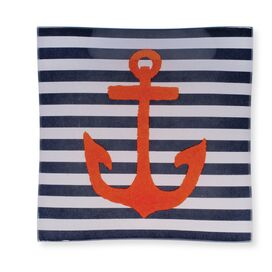 "Anchor 6"" Square Tempered Plate"