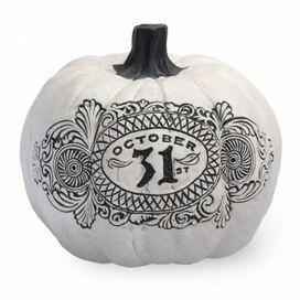 Oct. 31 Pumpkin Decor in White
