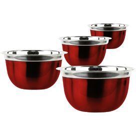 4-Piece Stainless Steel Bowl Set