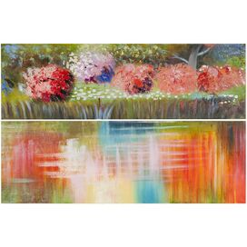 Azalea Reflections Canvas Print