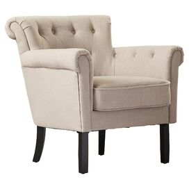 Currey Tufted Arm Chair