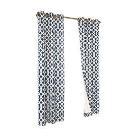 Trellis Grommet Curtain Panel (Set of 2)