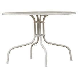 Oldsmar Metal Dining Table in White