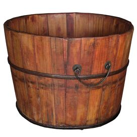 Wood Bucket in Natural