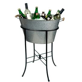 2-Piece Sawyer Party Station in Silver