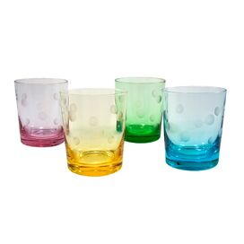 Polka Dot Double Old Fashioned Glass (Set of 4)