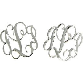 Personalized Sterling Silver Vine Earrings