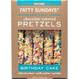 Fatty Sundays Birthday Cake Pretzels