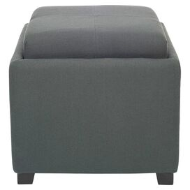 Vivian Storage Ottoman in Dark Grey