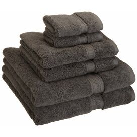 6-Piece Egyptian Cotton Towel Set in Charcoal