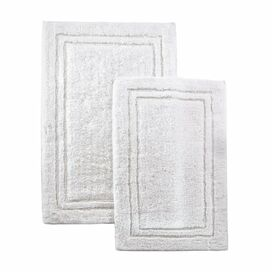 2-Piece Ella Bath Mat Set in White