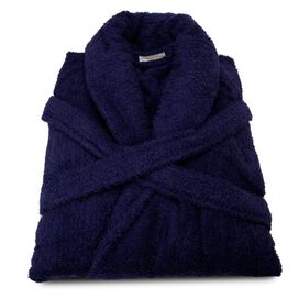 Egyptian Cotton Bath Robe in Navy