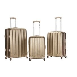 3-Piece Vegas Rolling Luggage Set in Gold