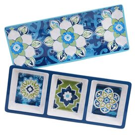 2-Piece Barcelona Melamine Appetizer Set