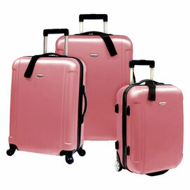 3-Piece Freedom Rolling Luggage Set in Dusty Rose