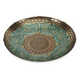Paisley Glass Decorative Bowl