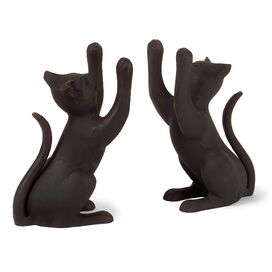 Curious Cat Bookends (Set of 2)