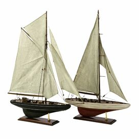 2-Piece Bluenose Sailboat Decor Set