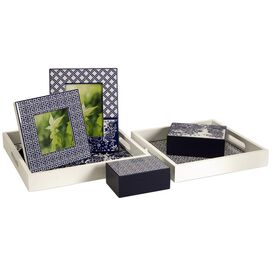 6-Piece Greek Key Desk Accessory Set