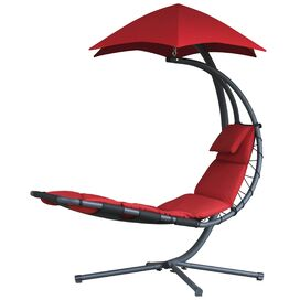 Casey Patio Lounge Chair in Red