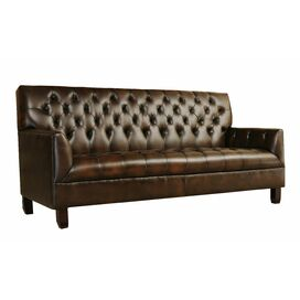 "Abigail 84"" Leather Sofa"