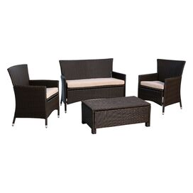 Aden 4 Piece Deep Seating Group with Cushions
