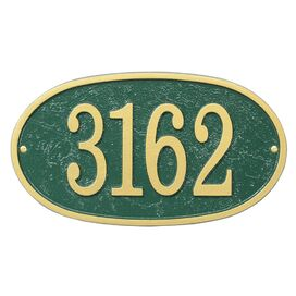 Personalized Oval Address Plaque