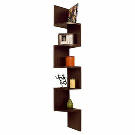 Ivan Corner Shelf in Walnut