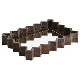 Ziggurat Mirrored Tray, Arteriors