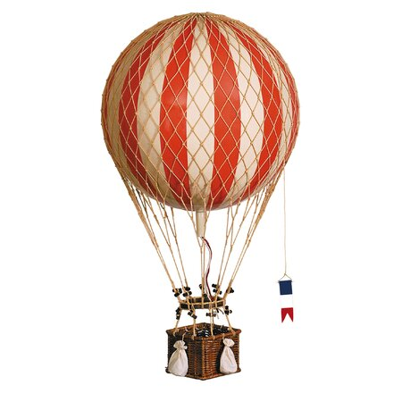 Hot Air Balloon Decor in Red
