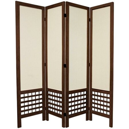"67"" x 57"" Open Lattice 4 Panel Room Divider"