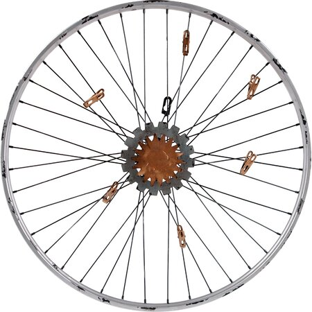 Bicycle wheel wall clip decor fresh off the farm on joss for Bicycle wheel wall art