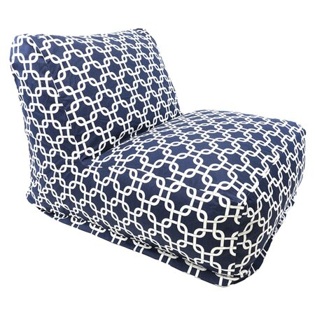 Jillian Indoor/Outdoor Beanbag Chair in Navy