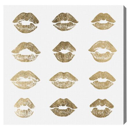 24k Kisses Canvas Print, Oliver Gal