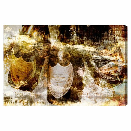 Champagne Bath Brass Canvas Print, Oliver Gal