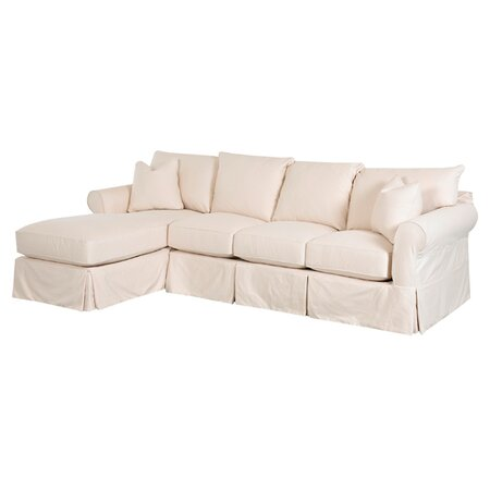 Theresa 112quot sectional sofa in off white the beach house for Sectional sofa joss and main