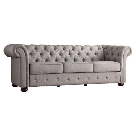 tiffany 91 chesterfield sofa in gray ec sofas. Black Bedroom Furniture Sets. Home Design Ideas