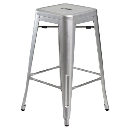 Galaxy Counter Stool in Silver (Set of 2)
