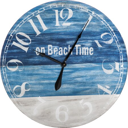 On Beach Time Wall Clock The Coastal Decor Shop On Joss Main
