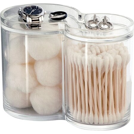 Cotton Ball And Swab Holder Acrylic Cotton Ball Swab
