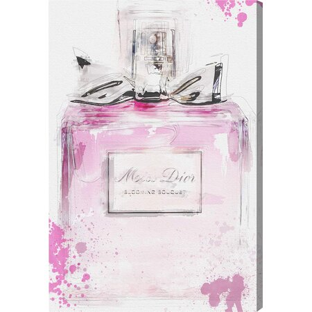 Perfume & Bow Canvas Print, Oliver Gal