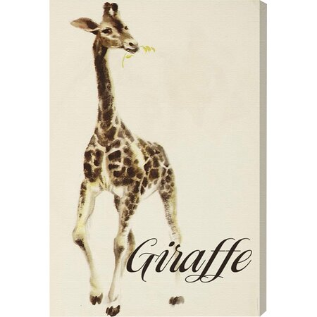 Hungry Giraffe Canvas Print, Oliver Gal