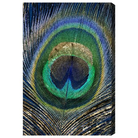 Feather Touch Blue Canvas Print, Oliver Gal