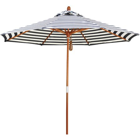 Striped Patio Umbrella in Navy Episode 8 The Outdoors