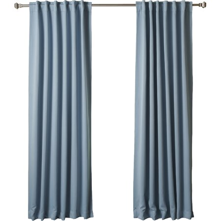 Blackout Rod Pocket Curtain Panel in Ocean (Set of 2)